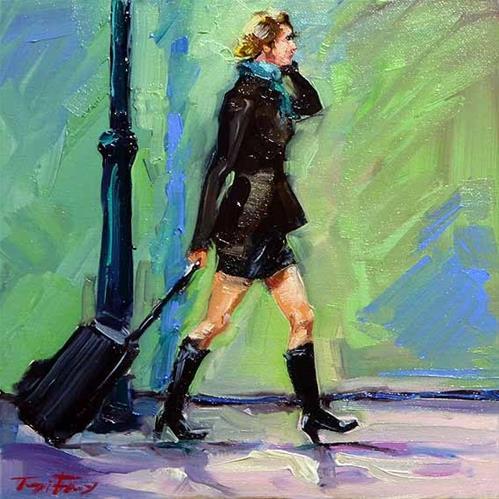 """In Eile"" original fine art by Jurij Frey"