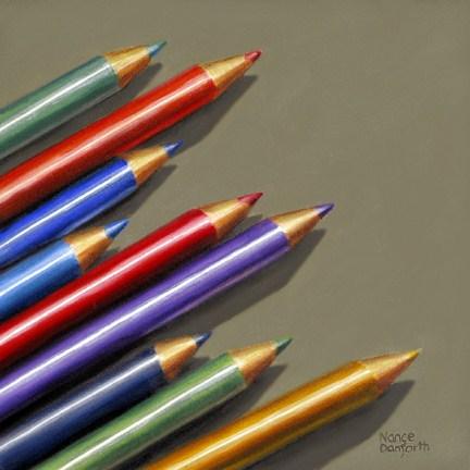 """""""Colored Pencils II"""" original fine art by Nance Danforth"""