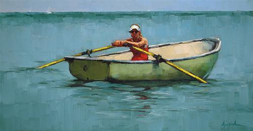 """Row Versus Wade"" original fine art by Karin Jurick"