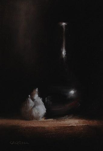 """""""Bud Vase with Garlic"""" original fine art by Neil Carroll"""
