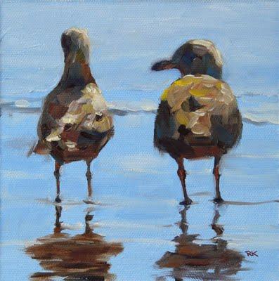 """""""Beach Date in oil"""" original fine art by Rita Kirkman"""