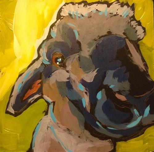 """Teddy Two!"" original fine art by Kat Corrigan"