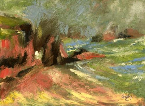 """""""The Fog Was Warm"""" original fine art by Donna Crosby"""