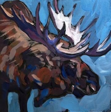 """Lowered Rack"" original fine art by Kat Corrigan"