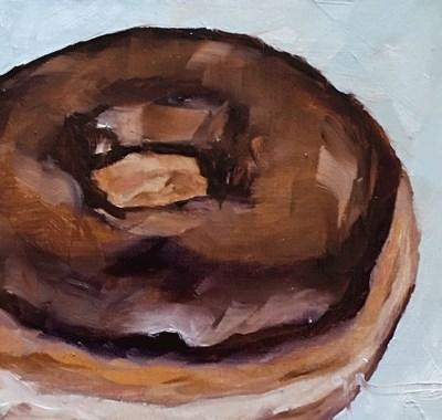 """""""Chocolate Donut"""" original fine art by Gigi ."""