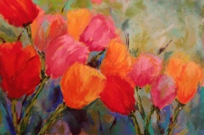 """""""Day 11 - More Tulips"""" original fine art by Angeli Petrocco Coover"""