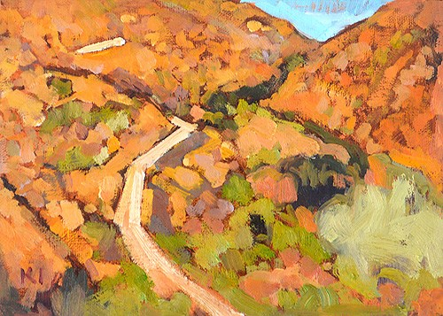 """Mission Trails, Autumn"" original fine art by Kevin Inman"