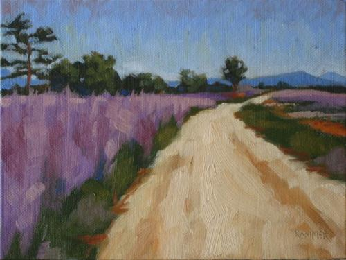 """surrounded by sage 6x8 oil"" original fine art by Claudia Hammer"