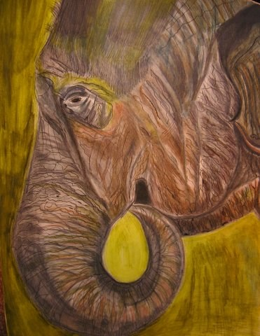 """The Sad Circus"" original fine art by Terri Brown-Davidson"