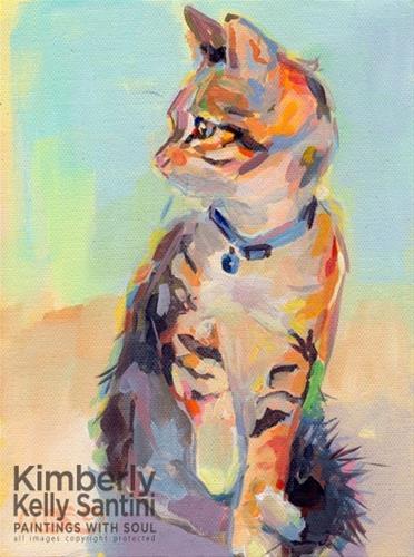 """A New Look - Boo!!"" original fine art by Kimberly Santini"