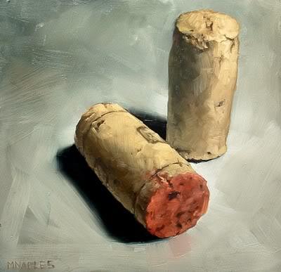 """""""Two Corks"""" original fine art by Michael Naples"""