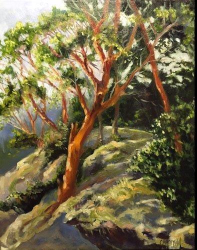 """""""Pender Island Arbutus II"""" original fine art by Carolynn Doan"""