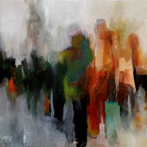 """""""Anonymous in the City"""" original fine art by ~ces~ Christine E. S. Code"""