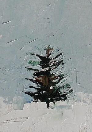 """Xmas Tree"" original fine art by Pamela Munger"