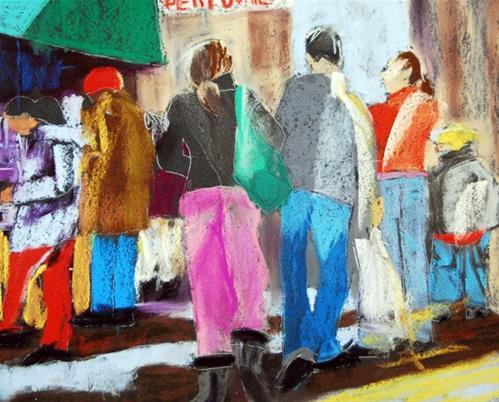 """Street Hustle"" original fine art by Donna Crosby"