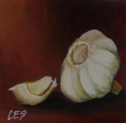"""""""Garlic"""" original fine art by ~ces~ Christine E. S. Code"""