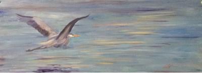 """Day 16 - Sunset Blue 2"" original fine art by Lyn Gill"