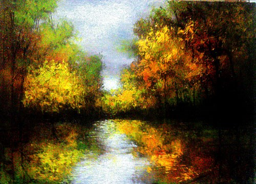 """Color Reflections"" original fine art by Bob Kimball"