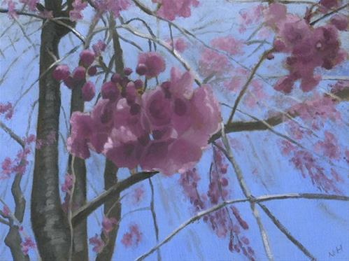 """""""LOOKING UP"""" original fine art by Nancy Herman"""