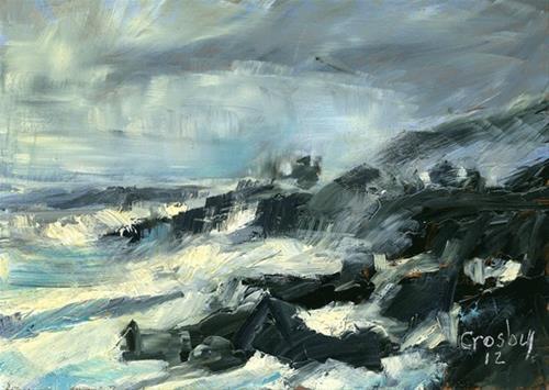 """Unstable  Storm"" original fine art by Donna Crosby"