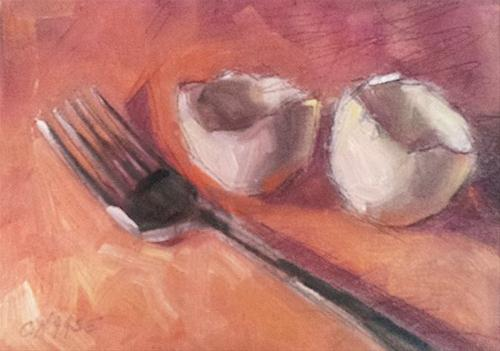 """""""Fried or Poached?"""" original fine art by Cindy Haase"""