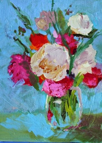 """""""Mother's Day Bouquet, Contemporary Floral Paintings by Arizona Artist Amy Whitehouse"""" original fine art by Amy Whitehouse"""