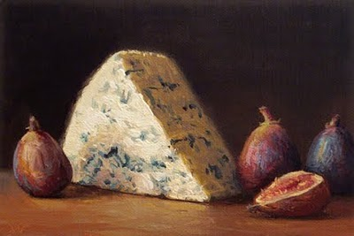 """""""Bleu Cheese with Figs"""" original fine art by Abbey Ryan"""