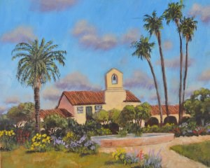 """Mission Gardens"" original fine art by Robert Frankis"