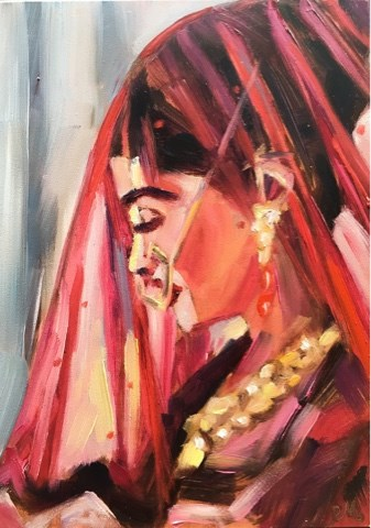 """Veiled Elegance"" original fine art by Piya Samant"