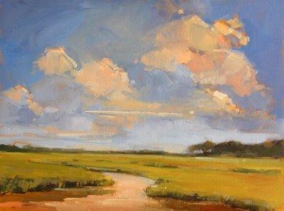 """View from the Landing"" original fine art by Laurel Daniel"