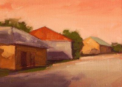 """Warehouse Row"" original fine art by Laurel Daniel"