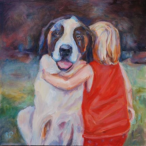 """Zac and Gretel"" original fine art by Carol DeMumbrum"