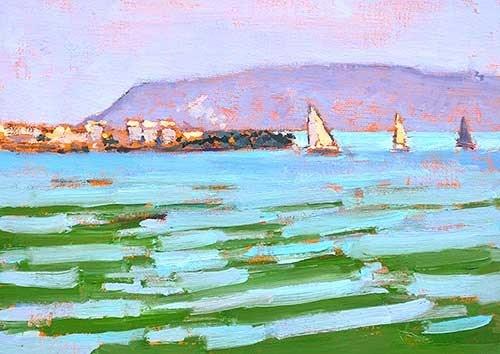 """""""San Diego Bay"""" original fine art by Kevin Inman"""
