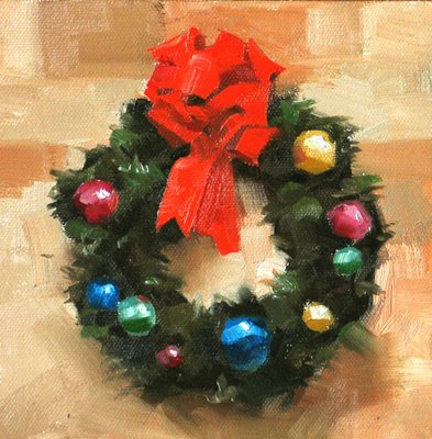 """""""Happy Holidays"""" original fine art by Qiang Huang"""