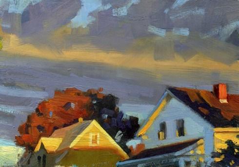 """Morning"" original fine art by Kathy Weber"