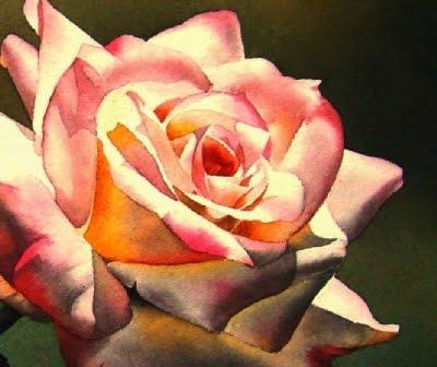 """Pink Rose Up Close"" original fine art by Jacqueline Gnott, TWSA, WHS"