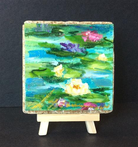 """White Lotus"" original fine art by Susie Monzingo"