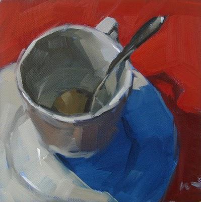 """""""Blue Shadow --- SOLD"""" original fine art by Carol Marine"""