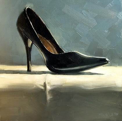 """High Heel"" original fine art by Michael Naples"