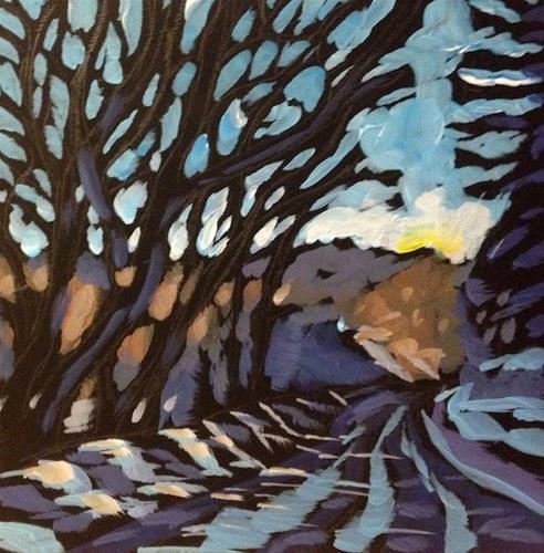 """Parkway Shadows"" original fine art by Kat Corrigan"