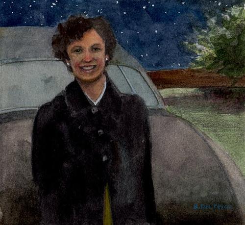 """""""Watercolor: Bright Stars, Warm Heart"""" original fine art by Belinda Del Pesco"""