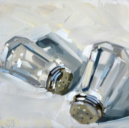 """Salt n' Pepper Shakers"" original fine art by Jessica Green"