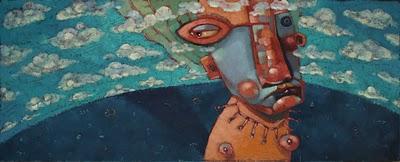 """Noggin Clouds"" original fine art by Brenda York"