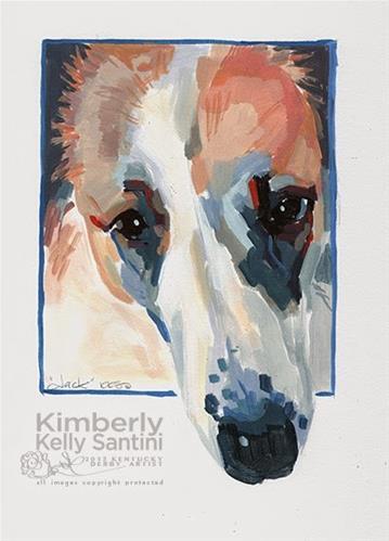 """Jack"" original fine art by Kimberly Santini"