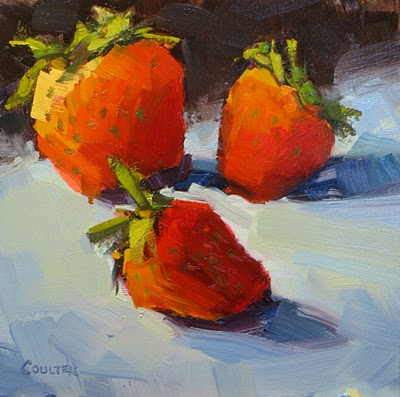 """""""THREEBERRIES"""" original fine art by James Coulter"""
