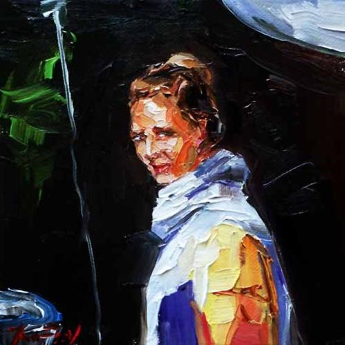 """an Veranstaltung"" original fine art by Jurij Frey"