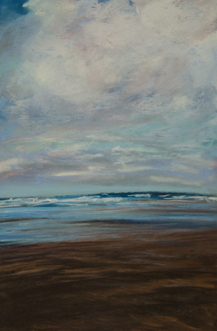 """Wet Beach"" original fine art by Sarah Peroutka"