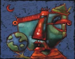 """""""Earthling"""" original fine art by Brenda York"""