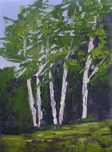"""TREES 2"" original fine art by Linda Popple"