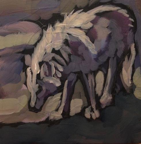 """""""Study in Grey"""" original fine art by Kat Corrigan"""